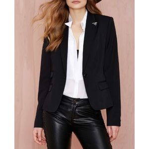 Nasty Gal Tipped Off Blazer
